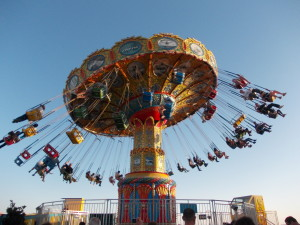 The whirligig of space and time — all the fun of the fair